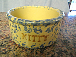 Ransbottom Spongeware Kitty Bowl (Image1)