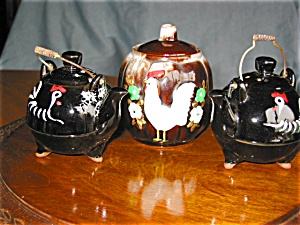 Vintage Japan Shakers And Sugar Bowl