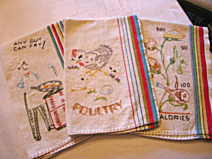 Vintage Embroidered Kitchen Towels (Image1)