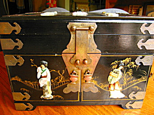Vintage Oriental Jewelry Chest Jewelry Boxes at More Than McCoy