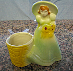 Vintage Fapco Lady And Well Planter