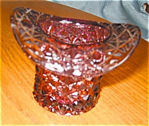 Pressed Glass Hat Vase (Image1)