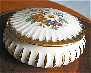 French Limoges Box Porc Leclair