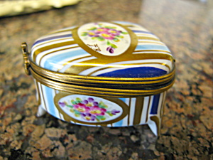 Limoges Porcelain Footed Box