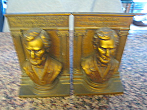 Bradley & Hubbard Lincoln Bookends Rare