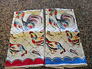 Vintage Rooster Kitchen Towels (Image1)