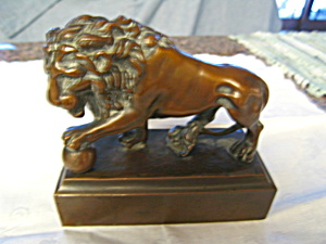 Big Cat's Play Rare Vintage Lion Bookend