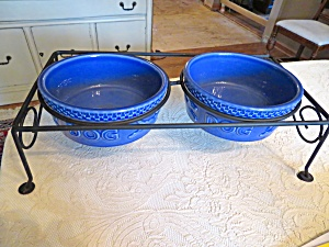 Lonaberger Dog Bowls W/stand