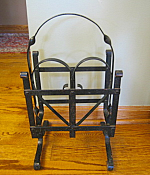 Antique Wrought Iron Magazine Rack (Image1)