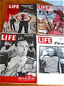 Four Vintage Life Magazines (Image1)