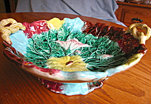 Majolica Morning Glory Bowl