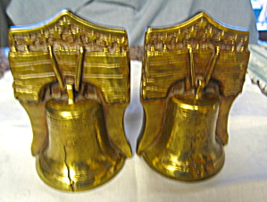 Marion Bronze Liberty Bell Bookends