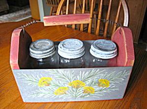 Mason Vintage Jars & Rustic Basket (Image1)