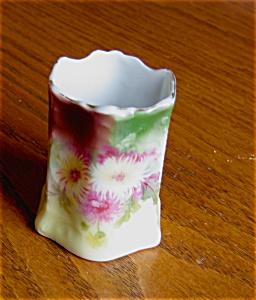 Vintage Hand Painted Porcelain Matchholder (Image1)
