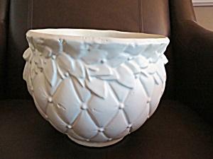 McCoy Pottery White Jardinaire (Image1)