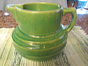 Antique McCoy Yellow Ware Buttermilk Pitcher (Image1)