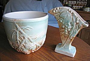 McCoy Rustic Line Vase & ]ardiniere  (Image1)