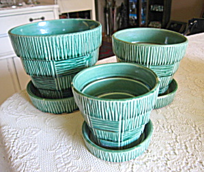 Mccoy Pottery Planter Trio