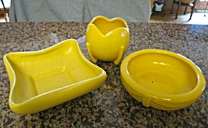 Mccoy Vintage Yellow Pottery Planters