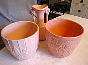 Vintage McCoy Pink Pottery Trio (Image1)