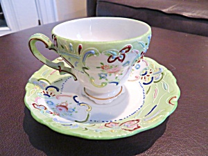 Merit Porcelain Enameled Demitasse Teacup