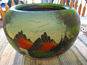 Mexican Hand Painted Pottery Planter (Image1)