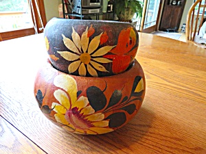 Mexican Pottery Vintage Planters