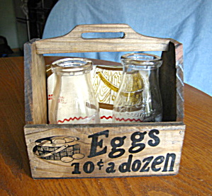 Milk Bottles & Egg Basket