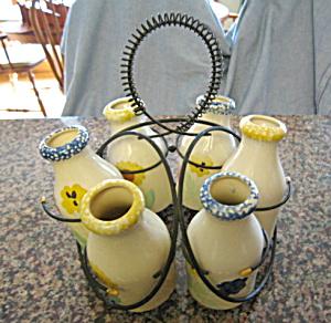 Vintage Bottle Rack and Bottles (Image1)