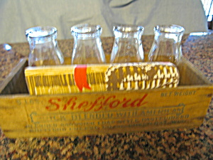 Dairy Milk Bottles w/Primitive Box (Image1)
