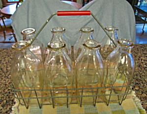 Milk Bottle Carrier & Bottles (Image1)