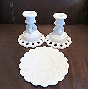 Milk Glass Candleholders (Image1)