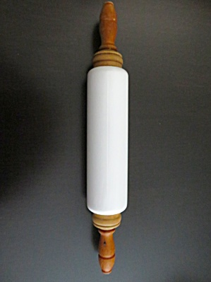 Milk Glass Vintage Rolling Pin