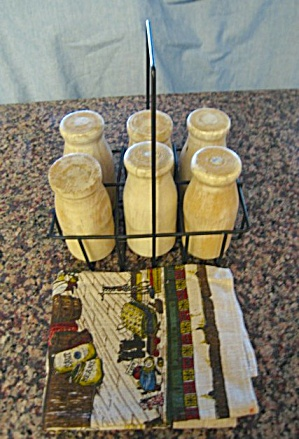 Vintage Wood Milk Bottles or Molds  (Image1)