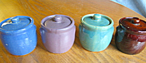 Vintage Miniature Stoneware Beanpots (Image1)