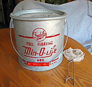 Vintage Minnow Bucket & Net