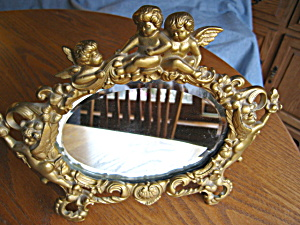 Art Nouveau Repousse Beveled Mirror