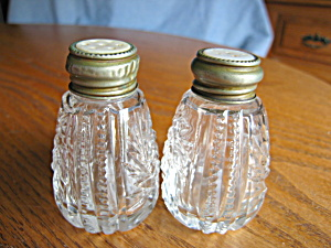 Antique MOP Pattern Glass Shakers (Image1)