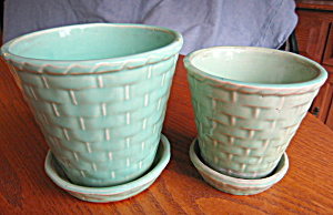 Vintage Morton Pottery Planters (Image1)