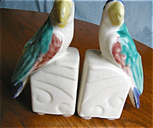 Vintage Morton Pottery Planter Lovebird Bookends