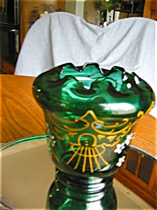 Victorian Enameled Blown Glass Vase