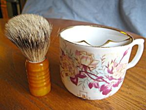 Vintage Flower Mustache Mug (Image1)