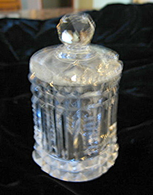 Antique Cut Glass Mustard Jar (Image1)