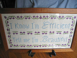 Framed Needlepoint Sign