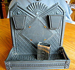 Sterling Matchsafe and Antique Tin Matchholder (Image1)