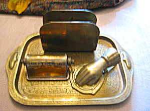 Vintage Brass Desk Accessories