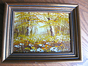 Signed Oil On Board Landscape Scene
