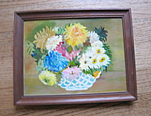 Oil Painting - Flower Basket