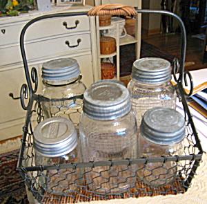 Glass Vintage Jars Zinc Lids (Image1)