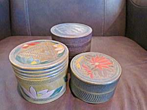 Vintage Wooden Coaster Sets